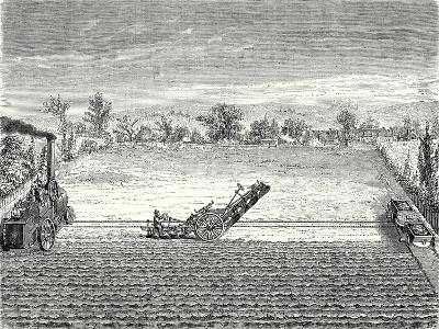 Steam Ploughing--Giclee Print