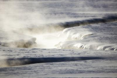 Steam Rises Off the Warm Water Flowing Through a Yellowstone Valley-Robbie George-Photographic Print