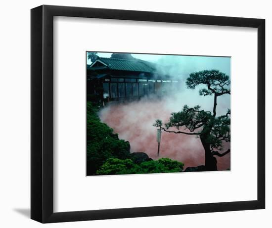 Steam Rising from Hot Spring and Baths (Or Jigoku Meaning Hells), Beppu, Kyushu, Japan-Tony Wheeler-Framed Photographic Print