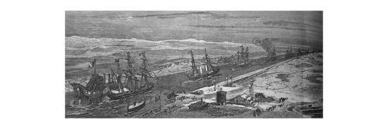 'Steam-Ships Passing Through the Suez Canal', c1882-Unknown-Giclee Print