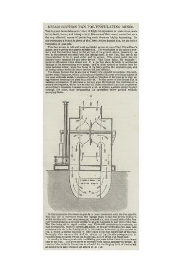 Steam Suction Fan for Ventilating Mines--Giclee Print