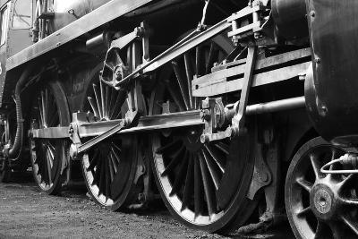 Steam Train Wheels-neillang-Art Print