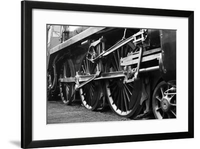 Steam Train Wheels-neillang-Framed Art Print