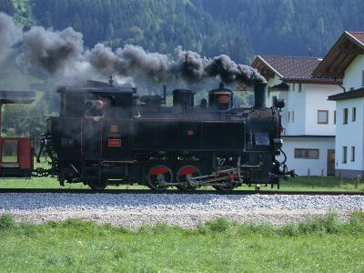 Steam Train, Ziller Valley, the Tirol, Austria, Europe-Gavin Hellier-Photographic Print