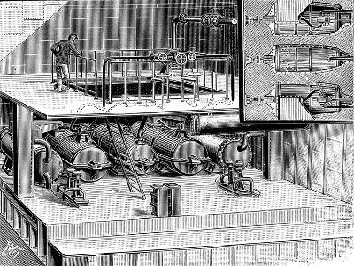 Steam Turbines Fitted into the Dover Packet Boat Queen, 1904--Giclee Print