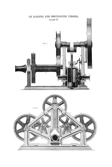 Steam Whipping Engine--Giclee Print