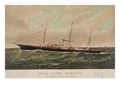 Steam Yacht Namouna--Art Print