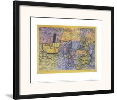 Steamboat and Sailing Boats, c.1931-Paul Klee-Framed Art Print
