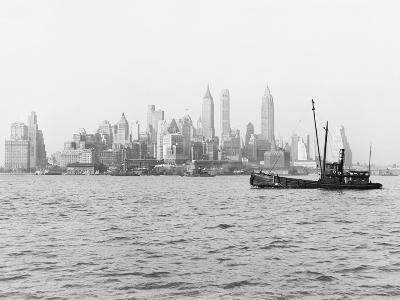 Steamboat in New York Harbor--Photographic Print