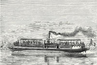 Steamboat Intended to Serve as a Ferry Service on the Seine During the Exposition 1867 (Propeller M--Giclee Print