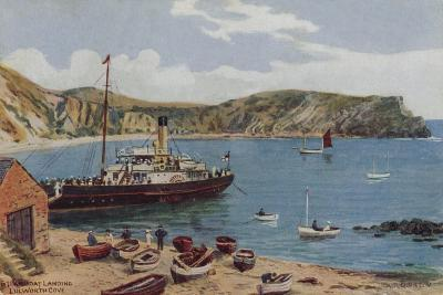 Steamboat Landing, Lulworth Cove-Alfred Robert Quinton-Giclee Print