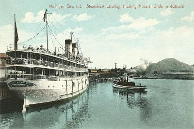 Steamboat Landing, Michigan City--Art Print