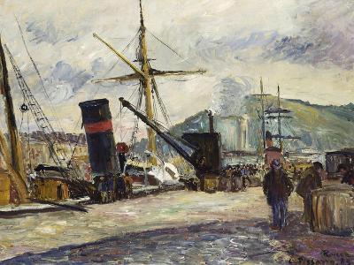 Steamboat, Rouen, Bateau a Vapeur, Rouen, 1883-Camille Pissarro-Giclee Print