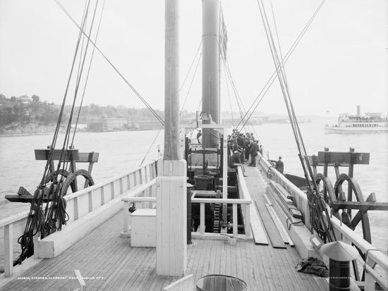 Steamer Clermont, deck, looking aft, 1909-Detroit Publishing Co.-Photographic Print