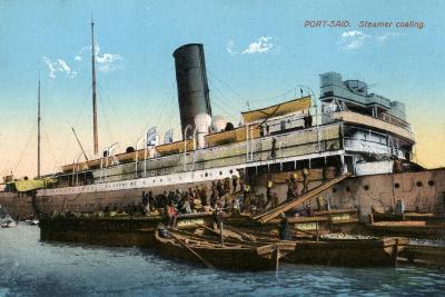 Steamer Coaling, Port Said, Egypt, 20th Century--Giclee Print