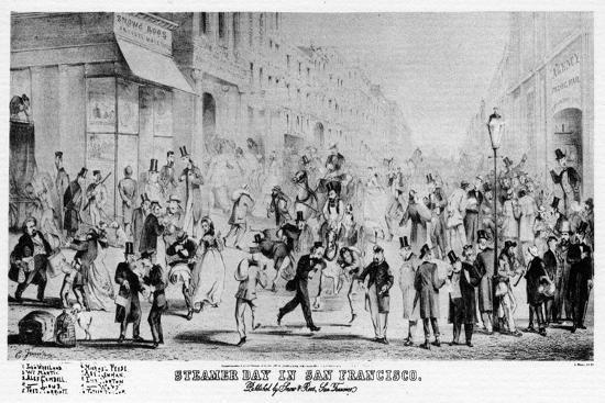 Steamer Day in San Francisco, California, 19th Century--Giclee Print