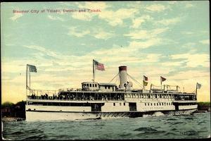 Steamer S.S. City of Toledo, Detroit and Toledo