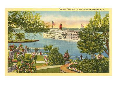 Steamer, Thousand Islands, New York--Art Print