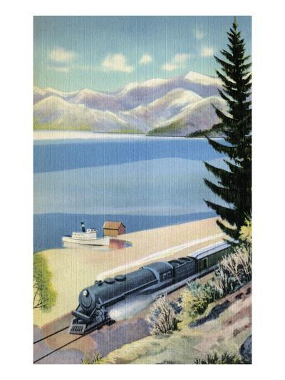 Steaming Along the Coast--Art Print