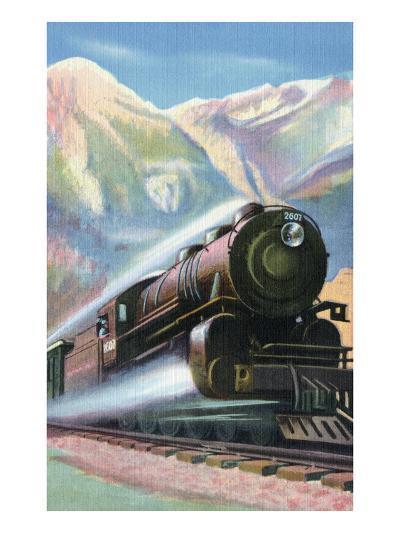 Steaming Full Speed Ahead--Art Print