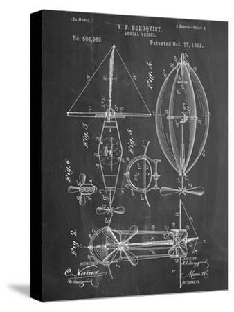 Antique Vintage Plane 402 Official Steampunk Aerial Vessel US Patent Art Print