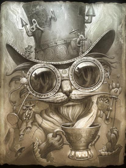 steampunk room decor.htm steampunk cat  giclee print jeff haynie art com  steampunk cat  giclee print jeff