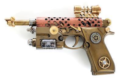 Steampunk Hand Cannon-3355m-Art Print