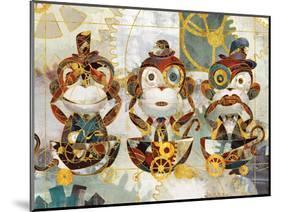 Steampunk Monkeys-Eric Yang-Mounted Art Print