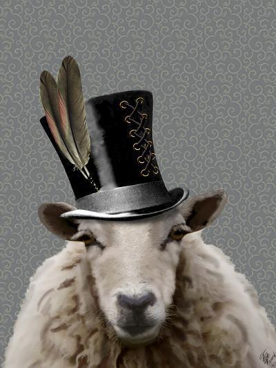 Steampunk Sheep-Fab Funky-Art Print