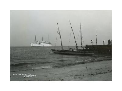 Steamship 'Atlantis' Off Bathurst, Gambia, 20th Century--Giclee Print
