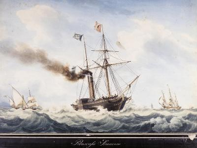 Steamship, France, 19th Century--Giclee Print