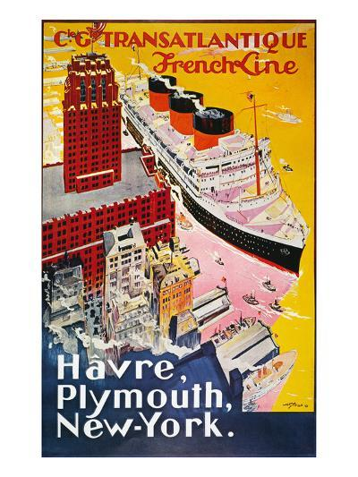 Steamship Poster, 1930S--Giclee Print