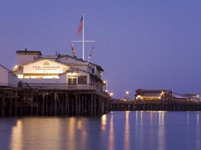 Stearns Wharf, Santa Barbara Harbor, California, United States of America, North America-Richard Cummins-Photographic Print