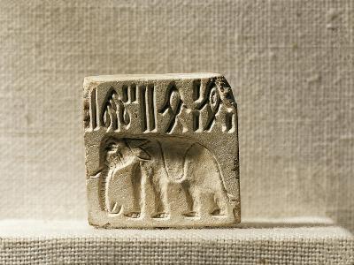 Steatite Seal Depicting an Elephant, Late Mohenjo-Daro Period--Giclee Print