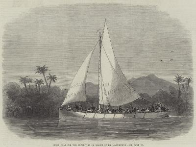 Steel Boat for the Expedition in Search of Dr Livingstone-Edwin Weedon-Giclee Print