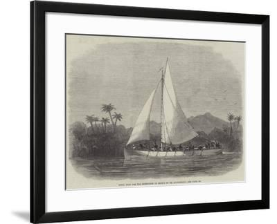 Steel Boat for the Expedition in Search of Dr Livingstone-Edwin Weedon-Framed Giclee Print