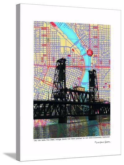 Steel Bridge Portland--Stretched Canvas Print