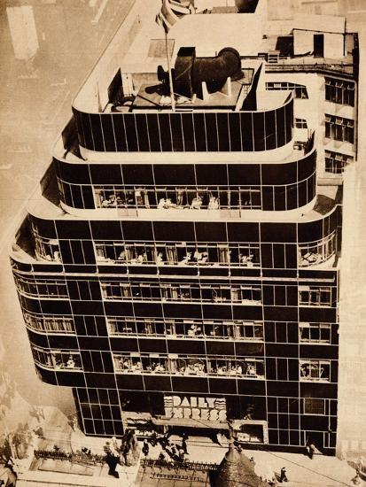 'Steel, concrete and glass, make modern buildings', 1935-Unknown-Photographic Print