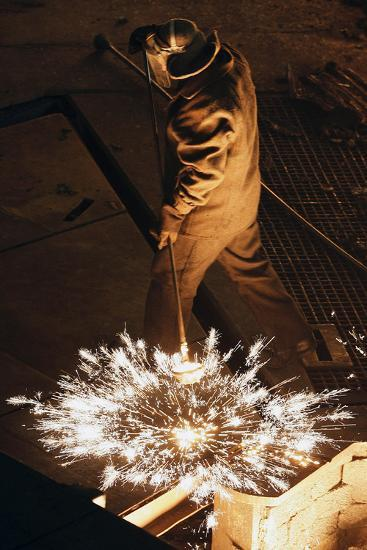 Steel Foundry Worker-Ria Novosti-Photographic Print