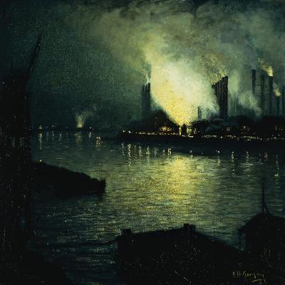 Steel Mills at Night, 1926-Aaron Henry Gorson-Giclee Print