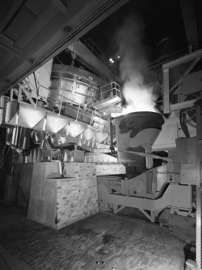 Steel Pour from an Electric Arc Furnace, Park Gate Iron and Steel Co, Rotherham, Yorkshire, 1964-Michael Walters-Photographic Print