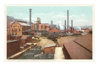 Steel Works, Pittsburgh, Pennsylvania--Art Print