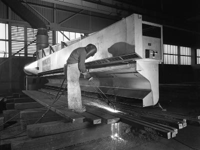 Steelworker at Park Gate Iron and Steel Co, Rotherham, South Yorkshire, April 1964-Michael Walters-Photographic Print