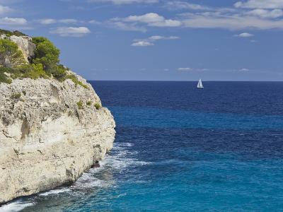 Steep Coast Close Cala Romantica, Majorca, Spain-Rainer Mirau-Photographic Print