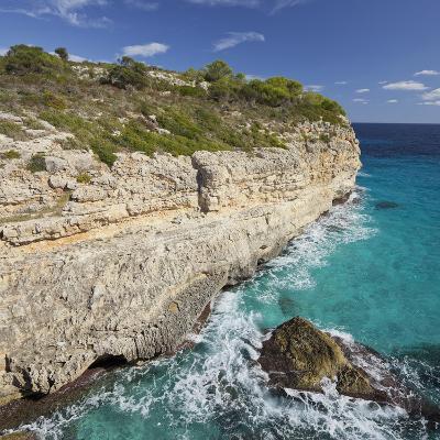 Steep Coast Near Cala Romantica, Majorca, Spain-Rainer Mirau-Photographic Print