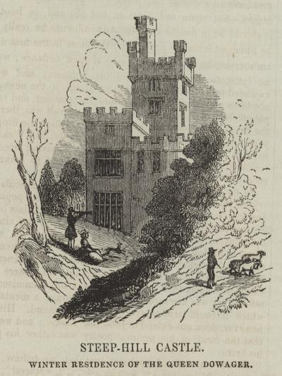 Steep-Hill Castle, Winter Residence of the Queen Dowager--Giclee Print