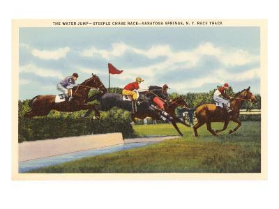 Steeple Chase, Saratoga Springs, New York--Art Print