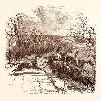 Steeple Chasing--Giclee Print