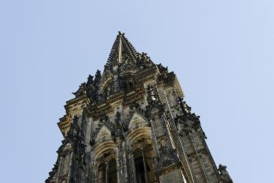 Steeple of the Nikolaikirche, St Nikolai, Hamburg-Mitte, Hanseatic City of Hamburg, Germany-Axel Schmies-Photographic Print