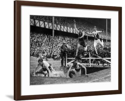 Steeplechase Jump--Framed Photographic Print